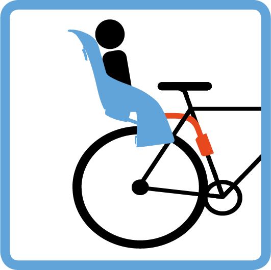 Thule hátsó kerékpáros gyerekülés